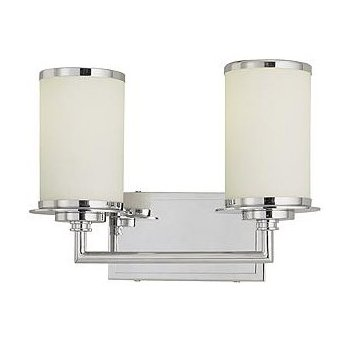 Glass Note Bath Bar (2 Lights) - OPEN BOX RETURN