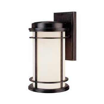 La Mirage Outdoor Wall Sconce (Satin White/Winchester/Medium) - OPEN BOX RETURN
