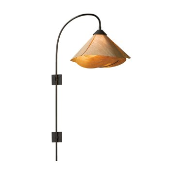 Arc Swing Arm Wall Sconce with Folded Shade
