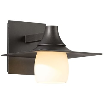 Hood Outdoor Wall Sconce with Glass