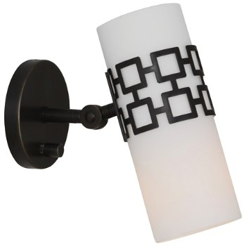 Parker Adjustable Wall Sconce (White/Bronze) - OPEN BOX