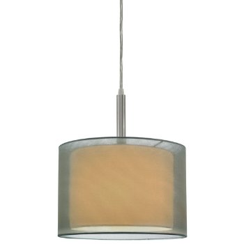 Puri 6008 Drum Pendant (Satin Nickel/Silver) - OPEN BOX RETURN