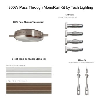 300 Watt Pass-Through Monorail Kit