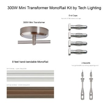 300 Watt Mini Transformer Monorail Kit
