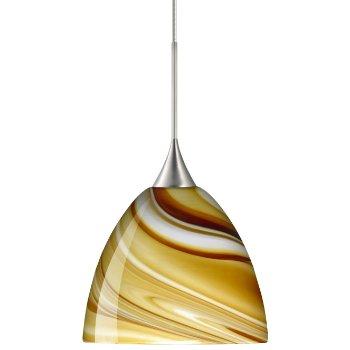 Sasha Mini Pendant (Honey/Satin Nickel) - OPEN BOX RETURN