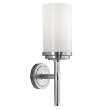 Halo Wall Sconce (Brushed Chrome/1 Light) - OPEN BOX RETURN