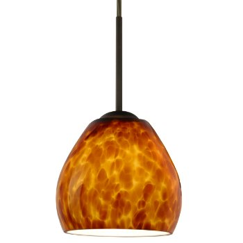 Bolla Mini Pendant (Amber Matte/Bronze) - OPEN BOX RETURN