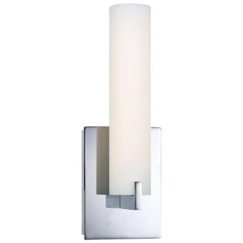 Tube LED Wall Sconce (Etched Opal/Chrome) - OPEN BOX RETURN