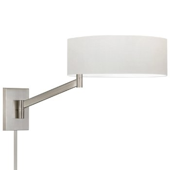 Perch Swingarm Wall Lamp (White/Nickel) - OPEN BOX RETURN