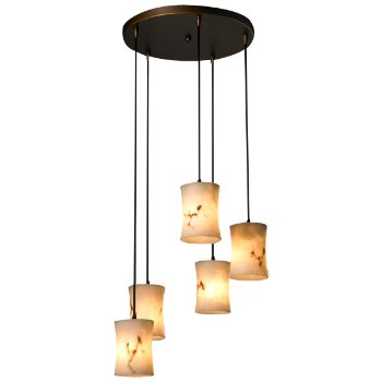 LumenAria 5 Light Cluster Pendant (Dark Bronze) - OPEN BOX RETURN