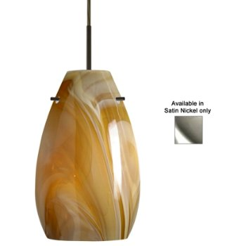 Pera 9 Pendant (Honey/Satin Nickel) - OPEN BOX RETURN