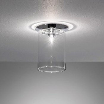 Spillray small flushmount by axo light at - Clear glass ceiling light ...