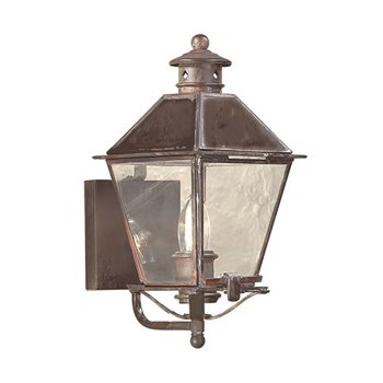 Montgomery Outdoor Wall Sconce with Metal Top - OPEN BOX RETURN
