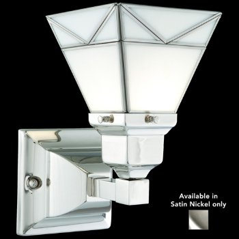 Art Glass Wall Sconce (Satin Nickel) - OPEN BOX RETURN