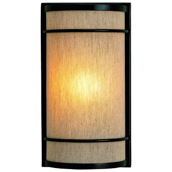 Dorset Wall Sconce (Natural Linen/Black Bronze) - OPEN BOX RETURN