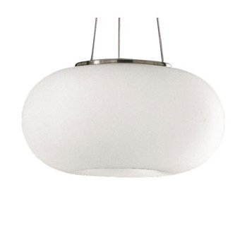 Optica Pendant (Frosted Opal/Nickel/Small) - OPEN BOX RETURN