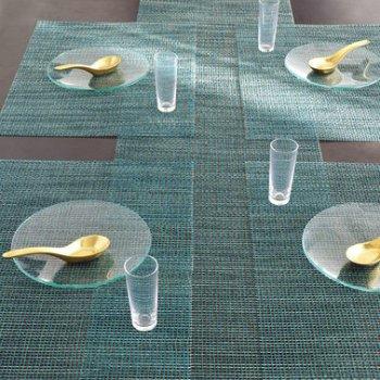 Lattice Set of 4 Tablemats (Aqua) - OPEN BOX RETURN