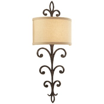 Crawford Wall Sconce (Hardback Linen/Cottage Bronze) - OPEN BOX RETURN