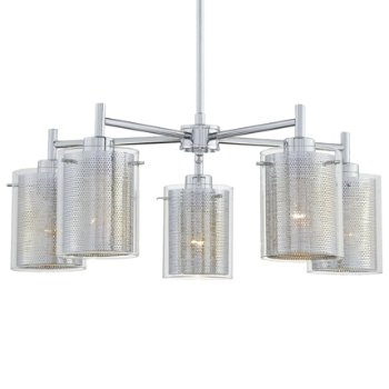 Grid II Chandelier (Clear/Chrome/Chrome Mesh) - OPEN BOX RETURN