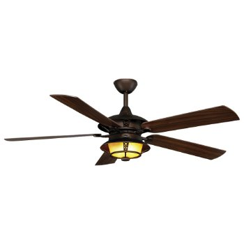 Burnet Outdoor Ceiling Fan (Roman Bronze/American Walnut and Grain) - OPEN BOX RETURN