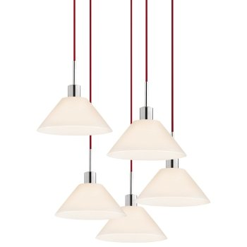 Glass Pendants - Cone Multi-Light