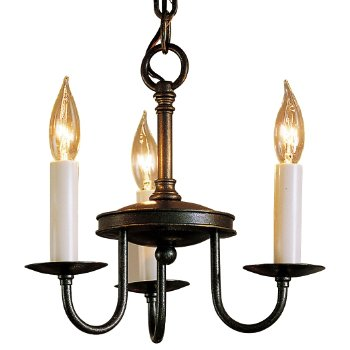 Traditional Three Arm Foyer Chandelier- Large (Dark Smoke) - OPEN BOX RETURN