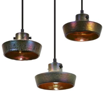 Lustre Flat Pendant(Iridescent/Black) - OPEN BOX RETURN