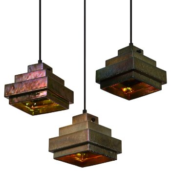 Lustre Square Pendant (Iridescent/Black) - OPEN BOX RETURN
