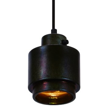 Lustre Round Pendant (Black) - OPEN BOX RETURN