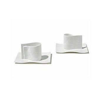 E-Li-Li Mocha Cup and Saucer (set of two) - OPEN BOX RETURN