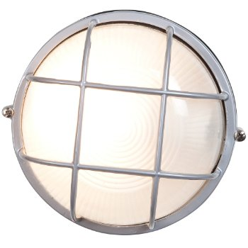 Nauticus Round Wall Light (Satin/Large) - OPEN BOX RETURN