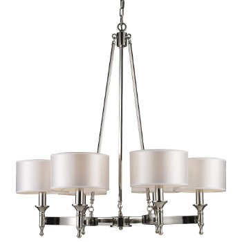 Pembroke Chandelier (Polished Nickel) - OPEN BOX RETURN