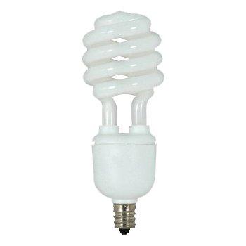 13W 120V T2 E12 Mini Spiral CFL Bulb