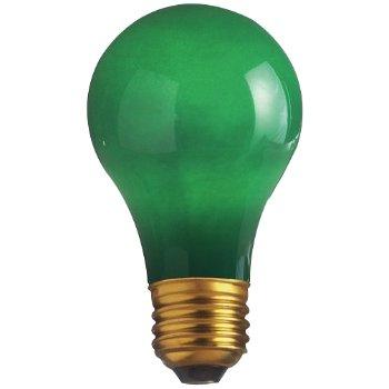 60W 130V A19 E26 Ceramic Green Bulb