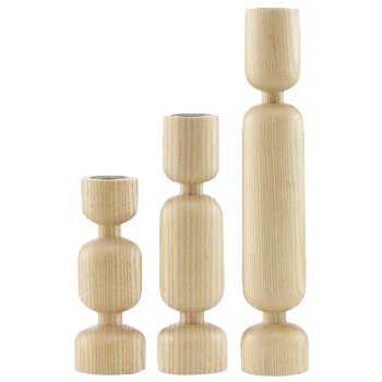 Lumberjack Candleholder Set of 3