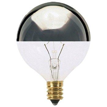 25W 120V G16 1/2 E12 Silver Crown Bulb