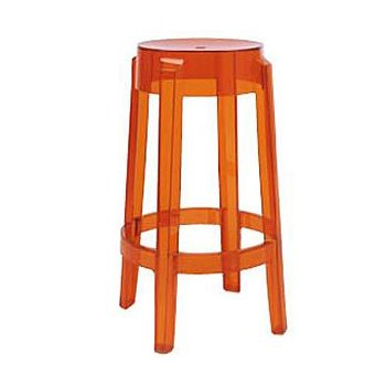 Charles Ghost Stool (Orange/Medium) - OPEN BOX RETURN