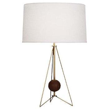 Ojai Table Lamp (Aged Brass w/ Walnut) - OPEN BOX RETURN