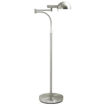 Dome Swing Arm Floor Lamp (Satin Nickel) - OPEN BOX RETURN