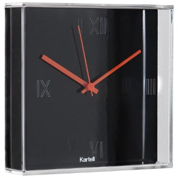 Tic&Tac Clock by Kartell (Matte Black) - OPEN BOX RETURN