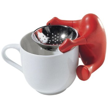 Te o' Tea Strainer by Alessi (Red) - OPEN BOX RETURN