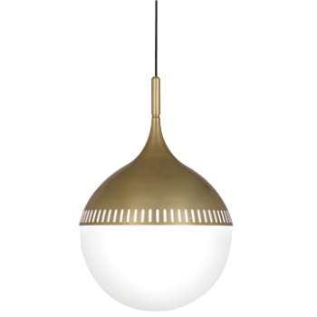 Rio Pendant (White/Antique Brass) - OPEN BOX RETURN