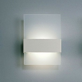 Ita Wall Sconce (Frosted/Brushed Steel) - OPEN BOX RETURN