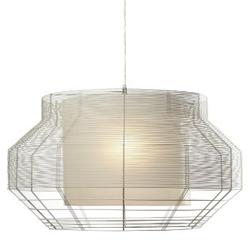 Mesh Large White Pendant