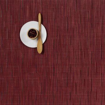 Bamboo Set of 4 Square Tablemats (Cranberry) - OPEN BOX RETURN