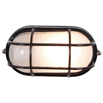 Nauticus Oval Ceiling/Wall Light (Black/Small) - OPEN BOX