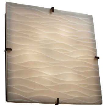 Porcelina Clips Square Ceiling/Wall Light