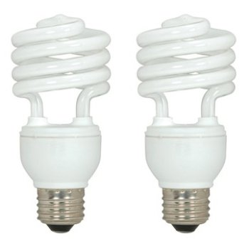 18W 120V T2 E26 Mini Spiral CFL Bulb (Pack of 2)