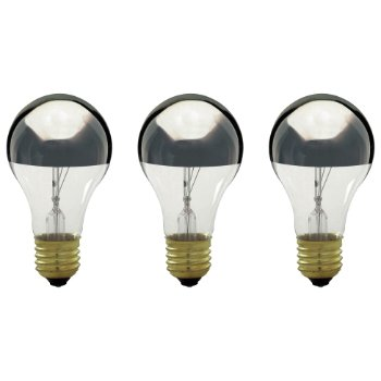 100W 130V A19 E26 Silver Crown Bulb (Pack