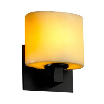 CandleAria Oval Wall Sconce (Black) - OPEN BOX RETURN